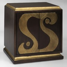 Hand Painted Swirl Cabinet