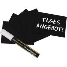 Schreibtafel in Schwarz mit Stift (20er Pack)