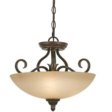 Riverton 3 Light Convertible Inverted Pendant