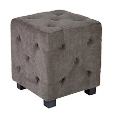 Duncan Tufted Upholstered Cube Ottoman