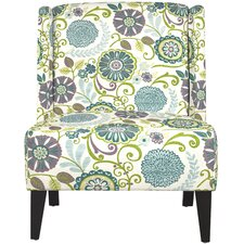 Barton Floral Wingback Chair