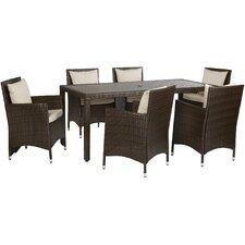 Nathaniel 7 Piece Dining Set with Cushion