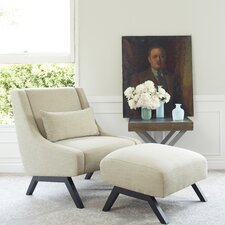 Robb Upholstered Lounge Chair & Ottoman