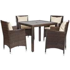 Nathaniel 5 Piece Dining Set with Cushions