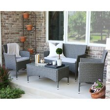 Baxter 4 Piece Lounge Seating Group with Cushions