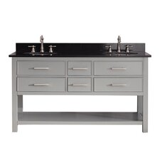 "Brooks 61"" Double Bathroom Vanity Set"