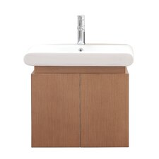 "Elle 24"" Single Wall Mounted Bathroom Vanity Set"