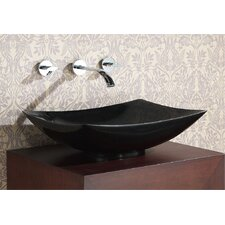 Rectangular Stone Vessel Bathroom Sink