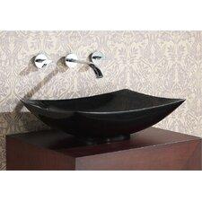 Rectangular Stone Vessel Bathroom Sink