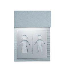 Mini Signal Restroom Wall Light in Metallic Gray