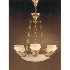 Leon Nine Light Traditional Chandelier in Ancient Gold