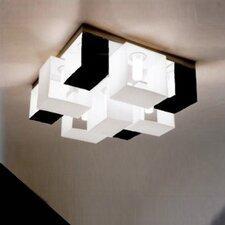 Domino Nine Light Flush Mount