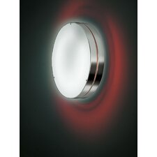 Tamburo 2 Light Outdoor Flush Mount/Wall Light in Gray