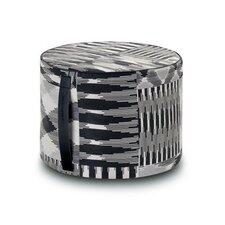 Patch Cylindrical Pouf Ottoman