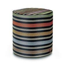 Prescott Cylindrical Pouf Ottoman