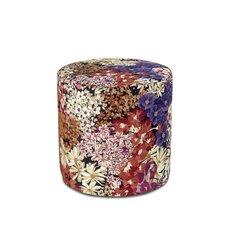 Lome' Cylindrical Pouf Ottoman