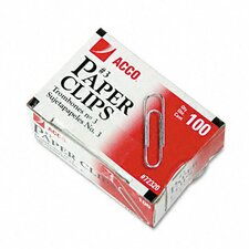 Smooth Finish Economy Paper Clips, Steel, No. 3, Silver, 100/Box, 10 Bxs/Pk