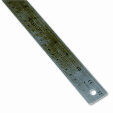 "Westcott Stainless Steel office Ruler with Non Slip Cork Base, 12"" (Set of 2)"
