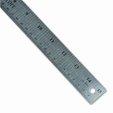 "Westcott Stainless Steel office Ruler with Non Slip Cork Base, 15"" (Set of 2)"