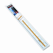 Westcott Acrylic Data Highlight Reading Ruler with Tinted Guide (Set of 3)
