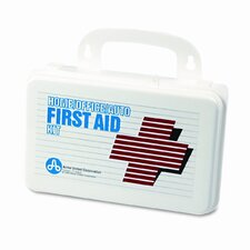 First Aid Kit with 70 Pieces in Plastic Case (Set of 2)