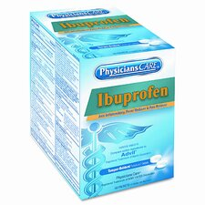 Physicianscare Ibuprofen Medication, 50 Doses of 2 Tablets