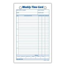 Index Bristol Weekly Time Card (Set of 90000)