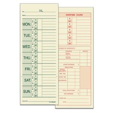 2 Sided Named Days Weekly Time Card (Set of 12800)