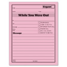 """While You Were Out"" Message Pad, 4 x 5, 3-Part, 12/Pack (Set of 2)"