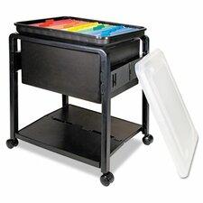 Folding Mobile File Cart