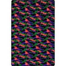 Green/Orange/Purple Area Rug