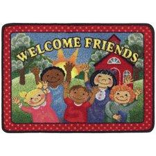 Welcome Friends Red/Green Mat