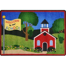 Schoolhouse Red/Green Area Rug