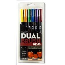 Dual Brush Secondary Colors Pen Set (Set of 6)