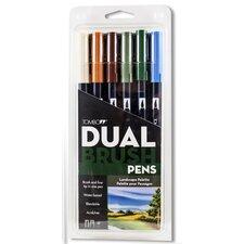 Dual Brush Landscape Colors Pen Set (Set of 6)