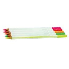 Irojiten Colored Pencils, Fluorescent (5-Pack)