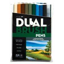 Dual Brush Landscape Pen (Set of 10)