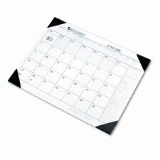 Two-Color Monthly Desk Pad Calendar
