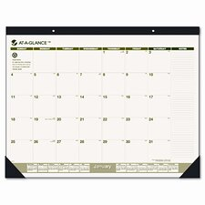 Recycled Monthly Two-Color Desk Pad Calendar