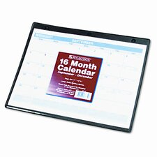 Academic Monthly Desk Pad/Wall/Ring Binder Calendar, 3-Hole Punched