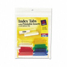 Self-Adhesive Tabs with Printable Inserts (25/Pack) (Set of 2)