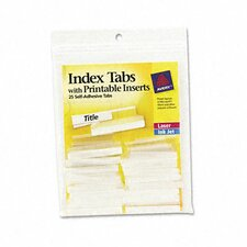 Avery Self-Adhesive Tabs with Printable Inserts (25/Pack) (Set of 2)