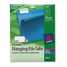 Print/Write-On Hanging Tabs, 90/Pack