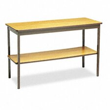 "Barricks 48""W x 18""D Utility Training Table with Bottom Shelf"