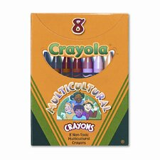 Multicultural Crayons (8/Box) (Set of 6)