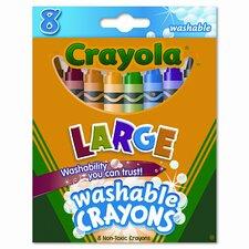 Large Washable Crayons (8/Box) (Set of 3)