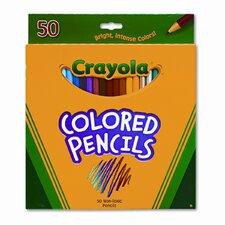 3.3 Mm Long Barrel Colored Woodcase Pencils (50/Set)