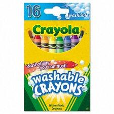 Washable Regular Crayons (16/Box) (Set of 3)