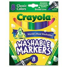 Washable Broad Point Markers (8/Pack) (Set of 2)