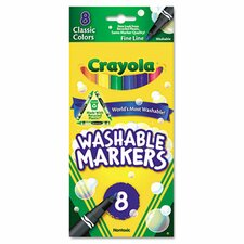 Washable Fine Point Markers (8/Pack) (Set of 2)